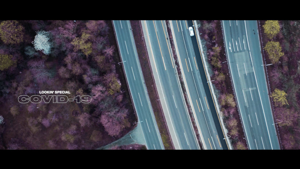 Frankfurter Autobahn in Corona Zeit