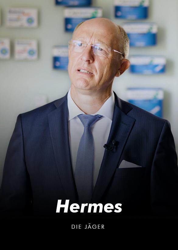 """Das Cover von dem Testimonial Video """"Hermes"""", produziert von der Videoproduktion Mainfilm"""