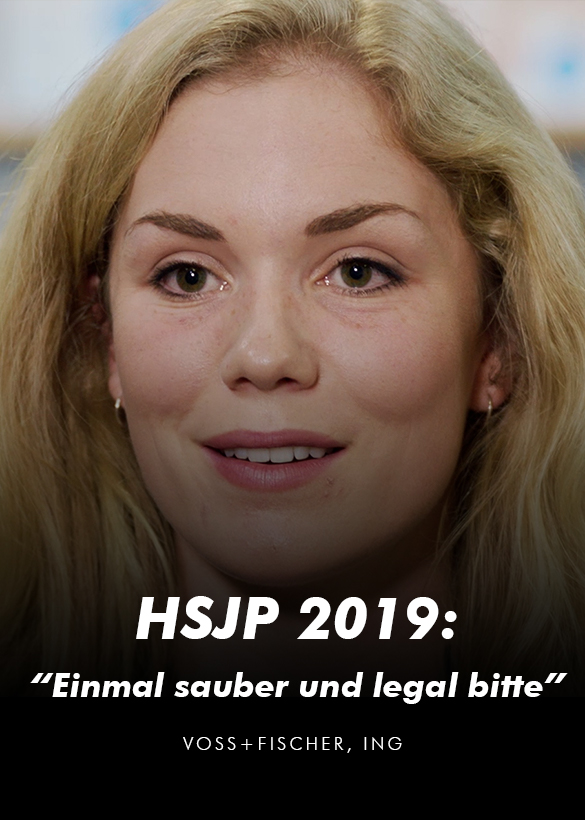 Das Cover von dem Video Interview für den Helmut Schmidt Journalistenpreis 2019, produziert von der Videoagentur Mainfilm