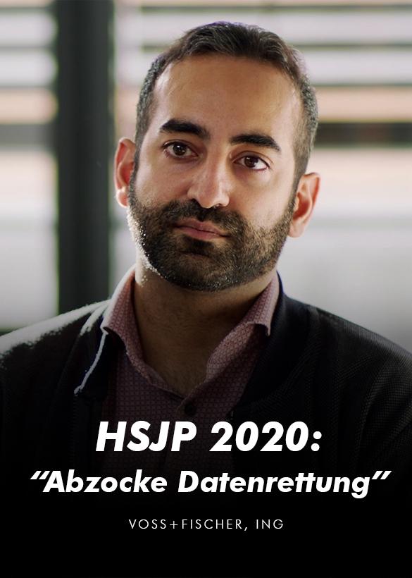 Das Cover von dem Video Interview für den Helmut Schmidt Journalistenpreis 2020, produziert von der Videoagentur Mainfilm