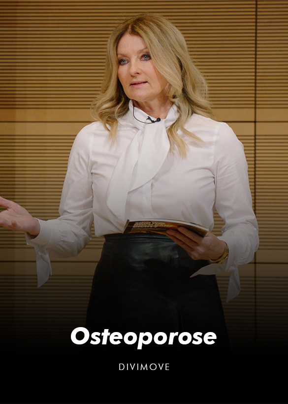"""Das Cover des Hybrid Events """"Osteoporose"""" mit Frauke Ludowig, produziert von dem Live Streaming Anbieter Mainfilm"""