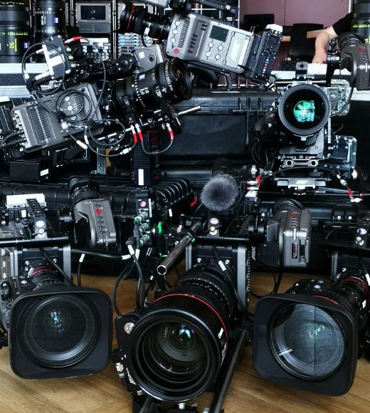 Kameraequipment eines Online Events von dem Live Streaming Anbieter Mainfilm