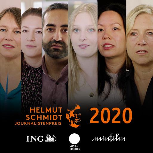 Das Cover von der Videoproduktion für den Helmut Schmidt Journalistenpreis 2020, produziert von der Videoagentur Mainfilm